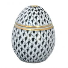 Herend Egg Shaped Bonbonniere - Black